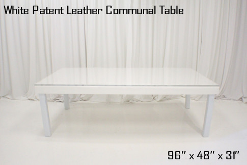 White Patent Leather Communal Table