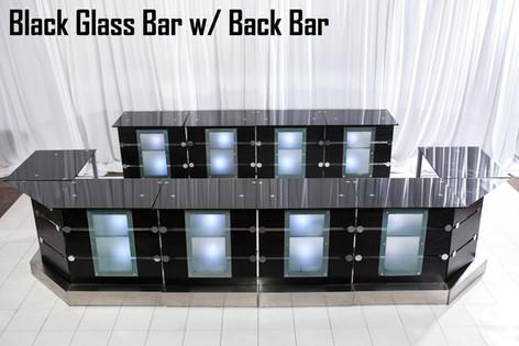 Black Glass Bar with Back Bar