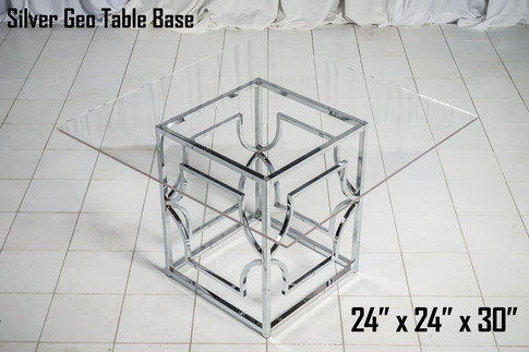 Silver Geo Table Base