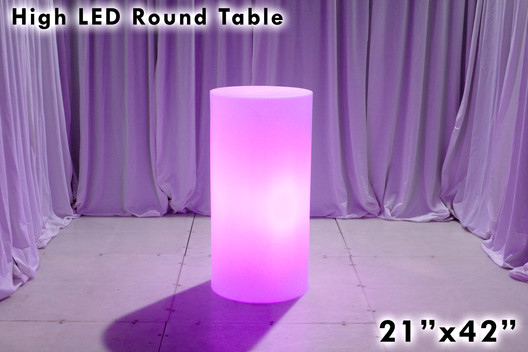 High LED Round Cocktail Table