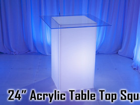 """24"""" Square Acrylic Top - Clear"""