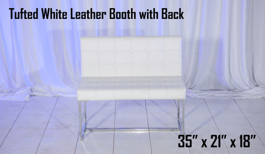 Tufted White Leather Booth
