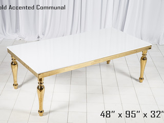 Gold Accented White Dinner Table