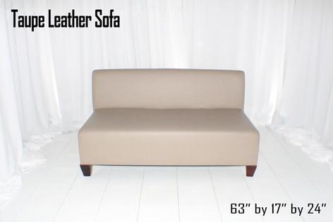 Taupe Leather Sofa