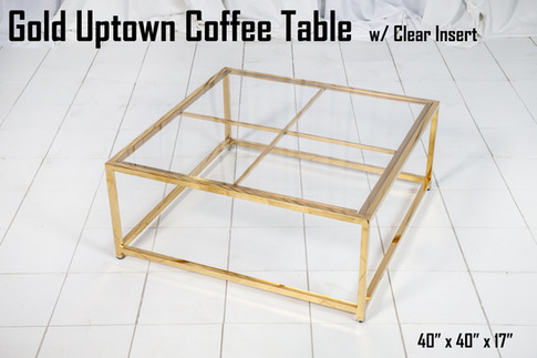 Gold Uptown Coffee Table Clear Insert