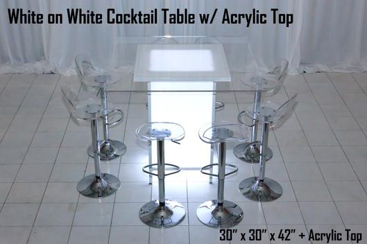 White on White Cocktail Table