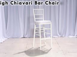 Chiavari Bar Stools with White Chair Pad
