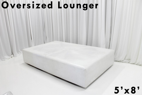 White Leather Oversized Lounger