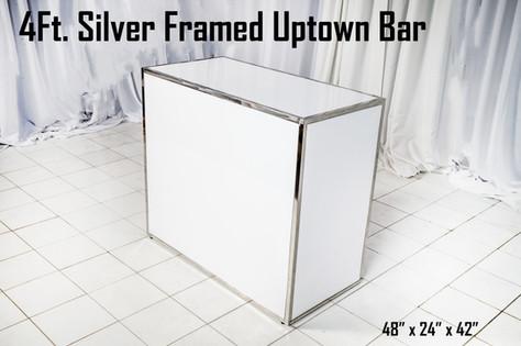 Silver Framed Uptown Bar 4Ft.
