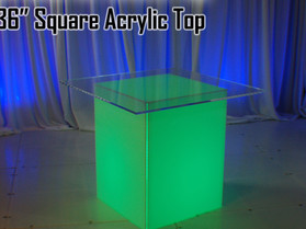 """36"""" Square Acrylic Top - Clear"""