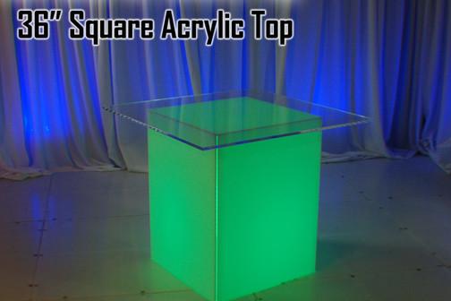 36 Square Acrylic Top