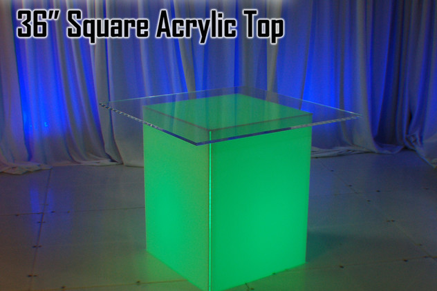 36 Square Acrylic Top