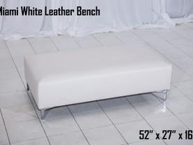 White Leather Miami Bench