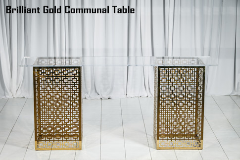 Brilliant Gold Communal Table
