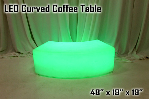 LED Curved Coffee Table