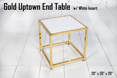Gold Uptown End Table w White Insert