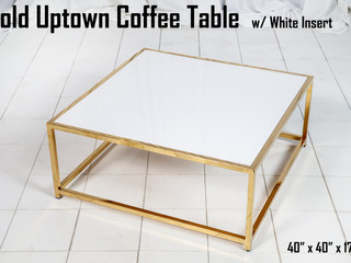 Gold Uptown Coffee Table White Insert