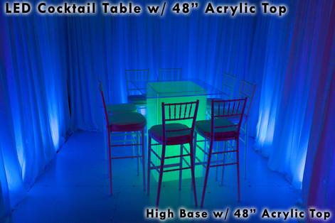 48 Square Acrylic Top
