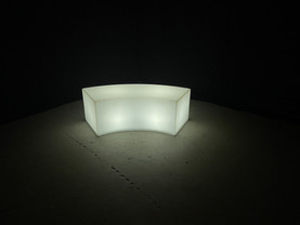 """LED Curved Bench - 47"""""""