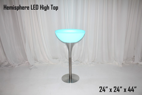 Hemisphere LED High Top Table