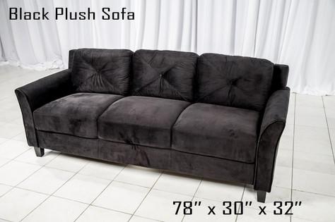 Black Plush Sofa