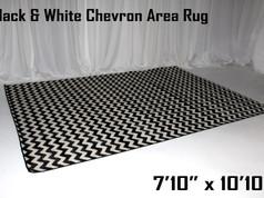 Black and White Chevron Area Carpet