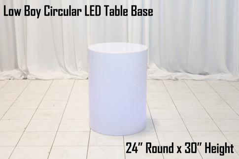 30 Circular LED Table Base