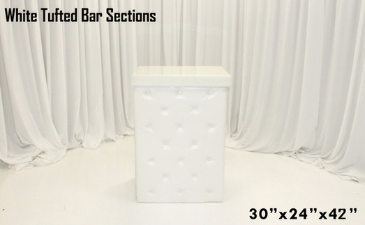 Tufted White Leather Bar Sections