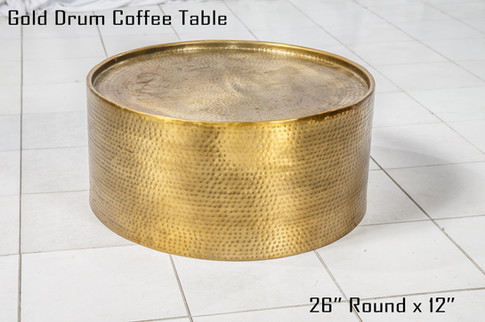 Gold Drum Coffee Table copy