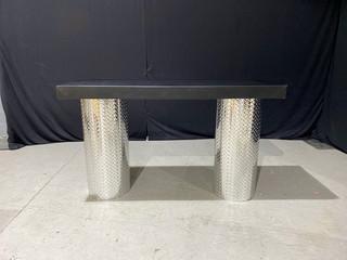 Diamond Plate & Black Parsons Table