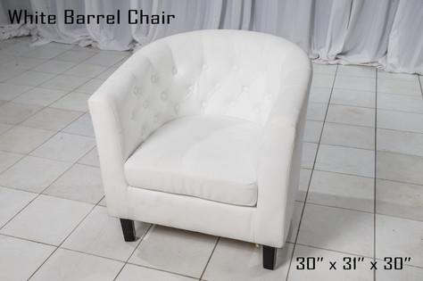 White Barrel Chair