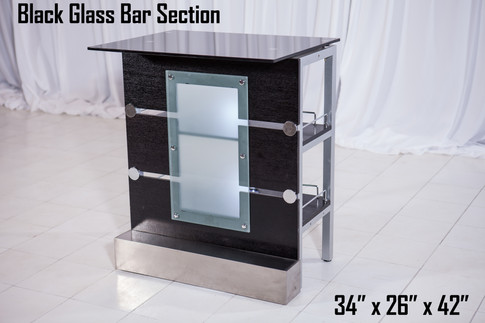 Black Glass Bar Section