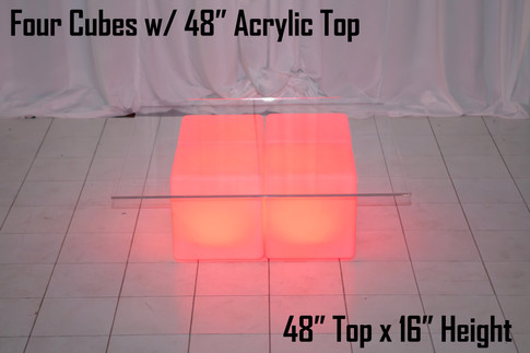 Four Cubes with 48inch Top