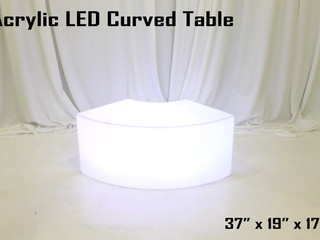 """Acrylic LED Curved Coffee Table -37"""""""