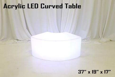 Acrylic LED Curved Table