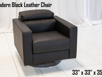 Black Modern Leather Chair
