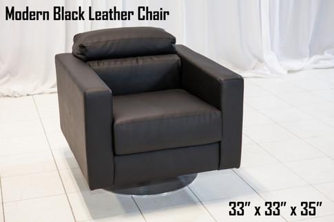 Modern Black Leather Chair