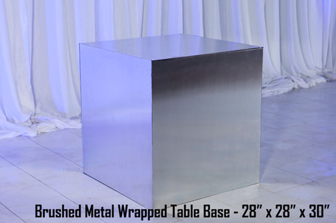 Brushed Metal Wrapped Table Base