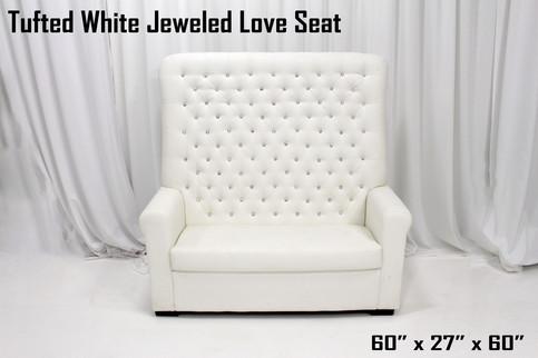 Jeweled Love Seat