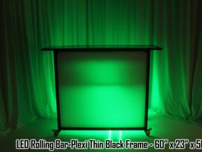 LED Rolling Bar with Black Frame