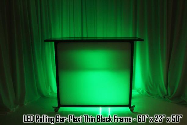 LED Rolling Bar Plexi Thin Black Frame