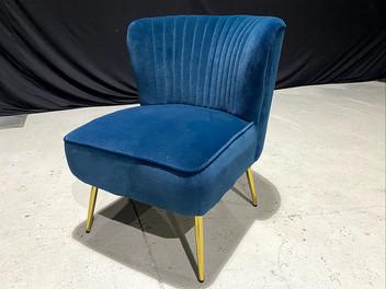 Allesandro Teal Velvet Chair