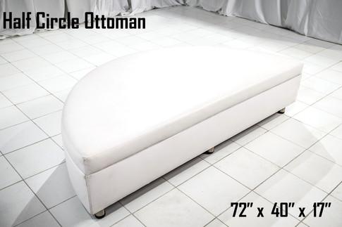 Half Circle Ottoman