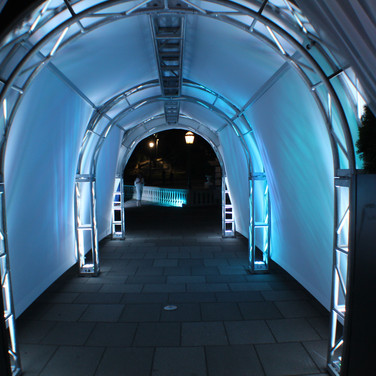 Truss Tunnel With Ambient Lighting