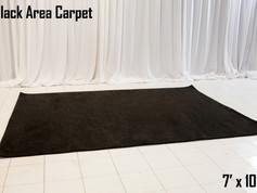 Black Area Carpet