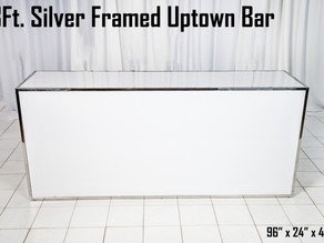 Silver Framed Uptown Bar - 8Ft.