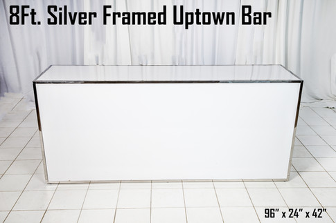 Silver Framed Uptown Bar 8Ft.