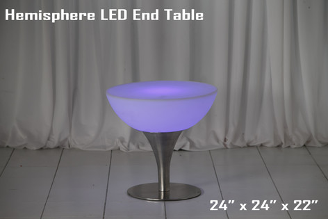 Hemisphere LED Low Top Table