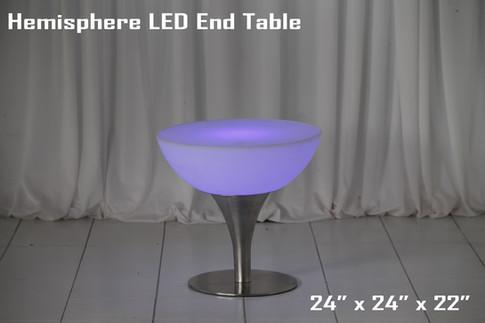 Hemisphere LED Low Top Table