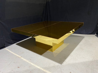 EP Mirrored Gold 6' x 6' Dinner Table